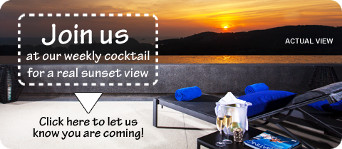 Join us for a Sunset Cocktail at The Residences Overlooking Layan